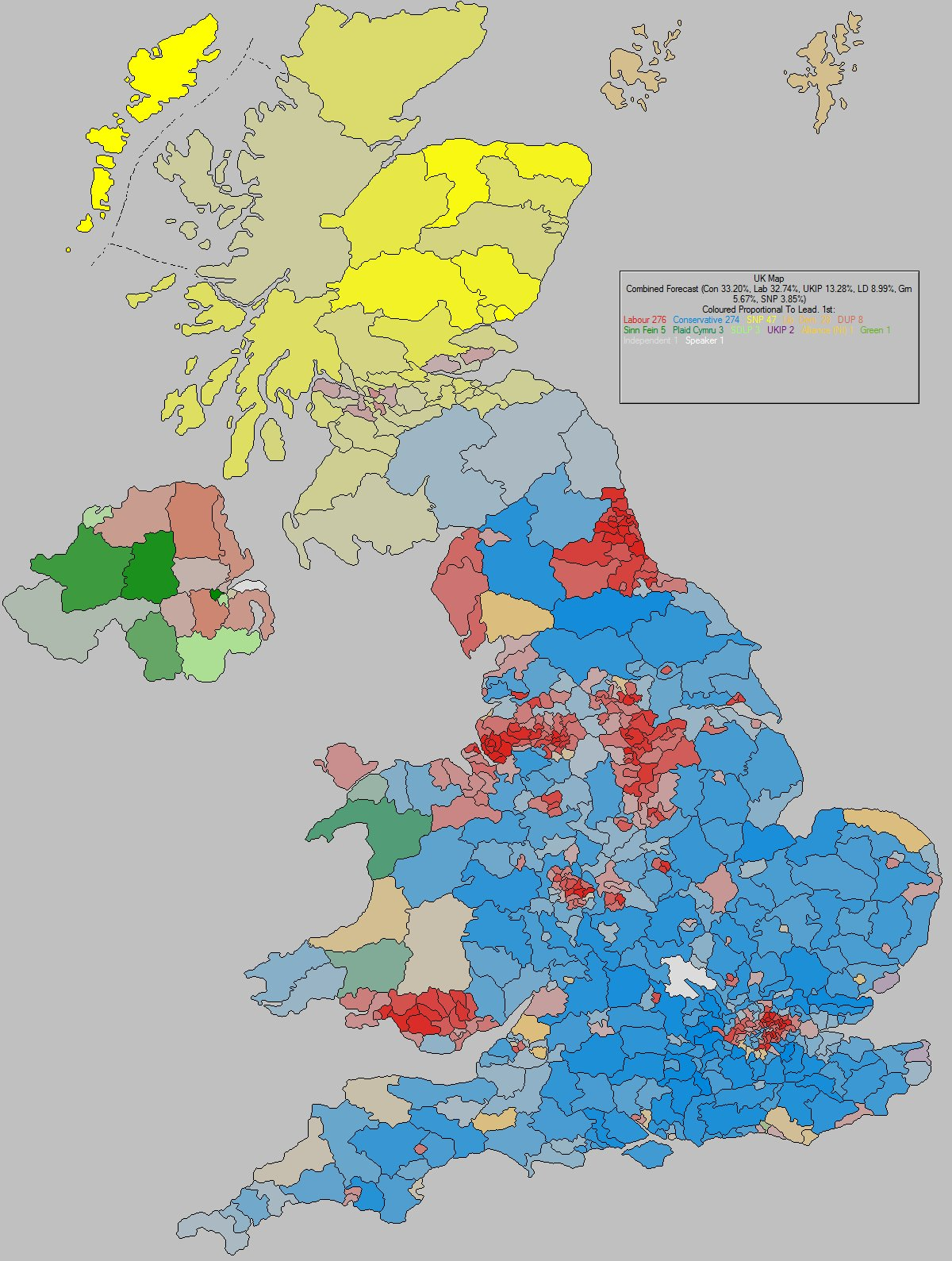 UK GENERAL ELECTION 2015 Latest UK General Election forecast by – 2015 Uk Election Map