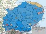 UK General Election Forecast for Eastern England