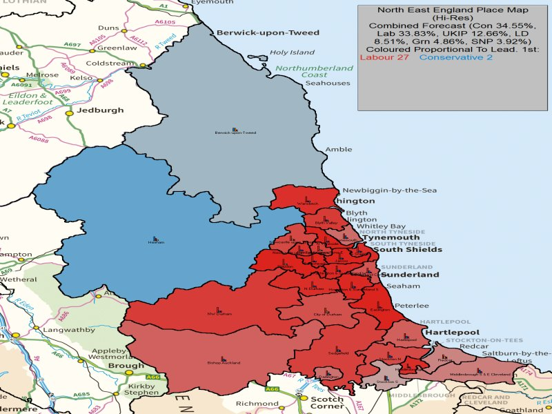 UK-Elect - UK General Election Forecast for North East England