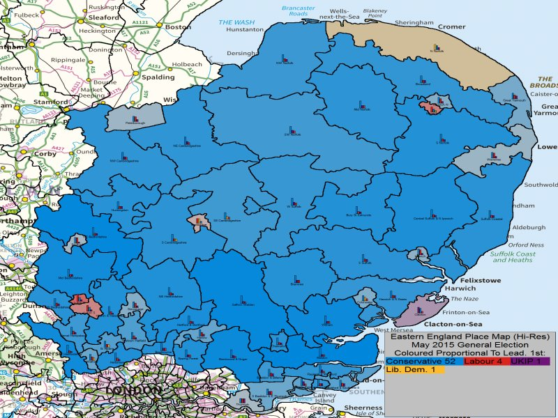 May 2015 General Election Result in Eastern England