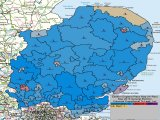 UK General Election Results for Eastern England