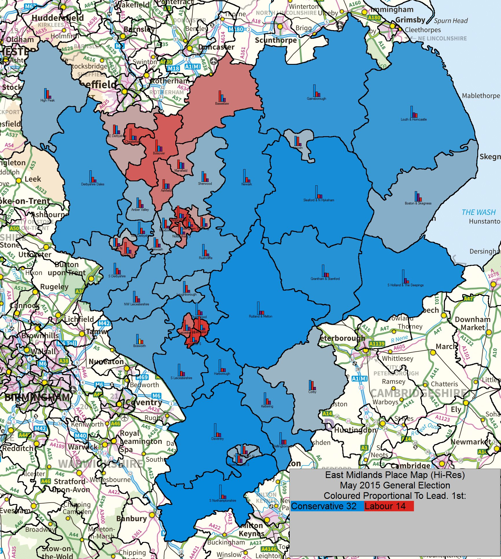 may 2015 general election result east midlands