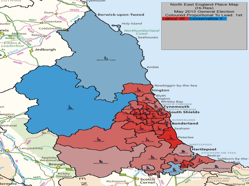 May 2015 General Election Result in NE England