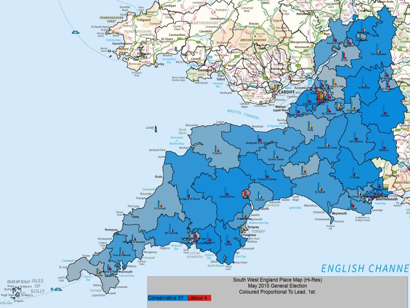May 2015 General Election Result in SW England