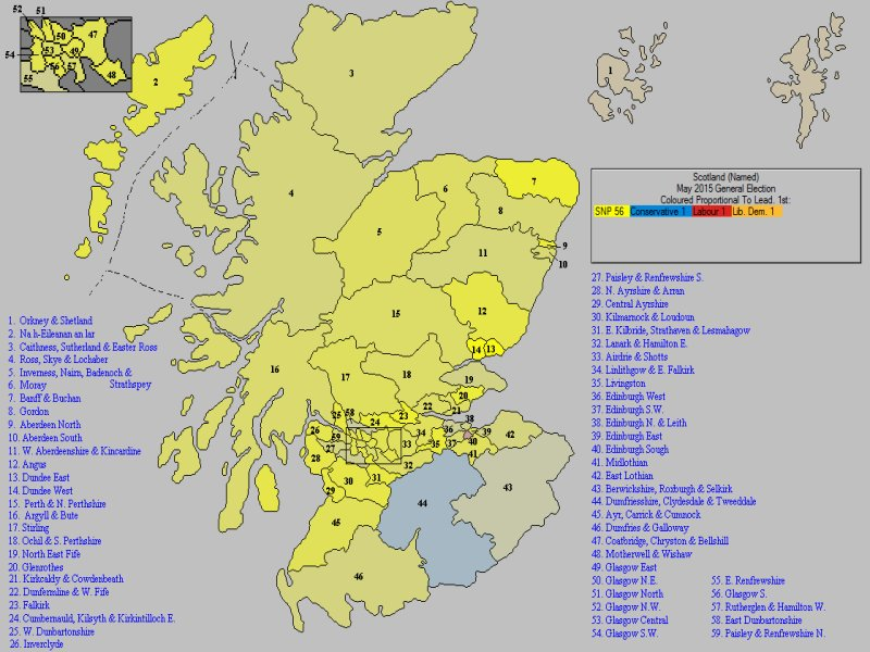 May 2015 General Election Result in Scotland