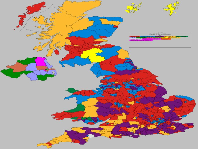 May 2015 General Election Result - UK (2nd Place)