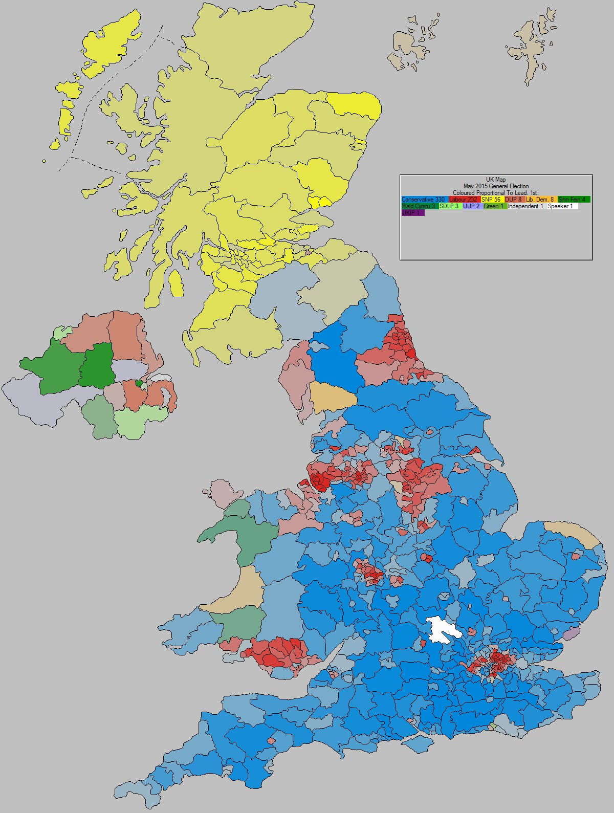 May 2015 General Election Result - United Kingdom