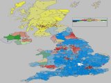 UK 2015 General Election - UK with Gains