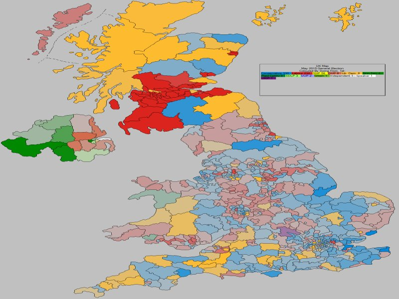 May 2015 General Election Result - UK (Swing From)