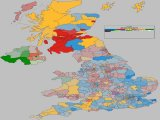 UK 2015 General Election - Coloured by most significant 'Swing From' percentage