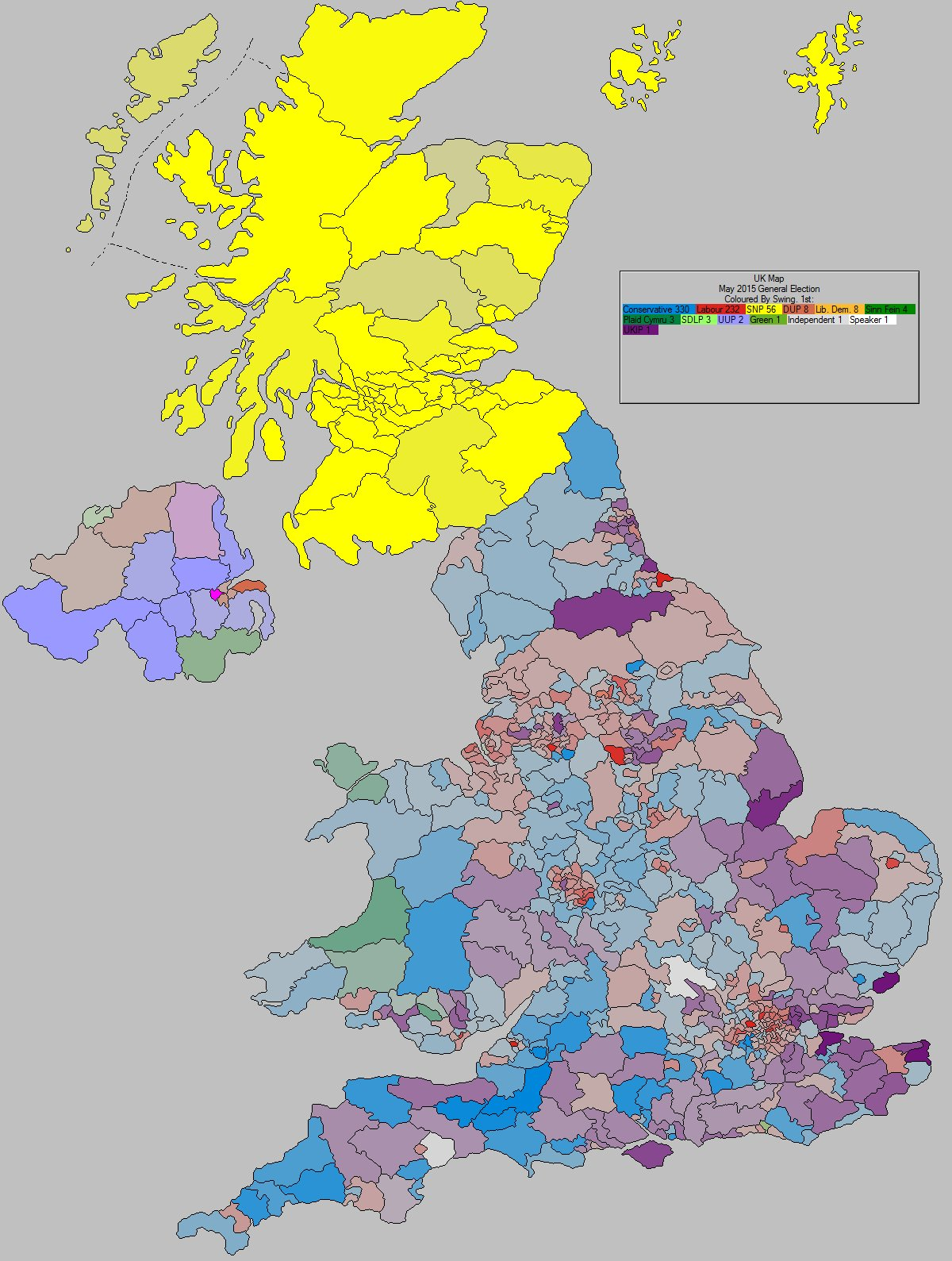 Map Of England 2015.Uk Elect Uk Election Forecast For Uk Swing To