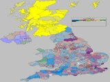 UK 2015 General Election - Coloured by most significant 'Swing To' percentage