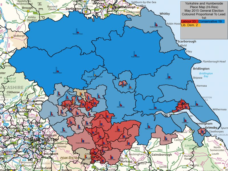 May 2015 General Election Result in Yorkshire and Humberside