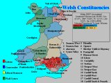 Forecast for Wales (Constituencies, Coloured By Percentage Lead)