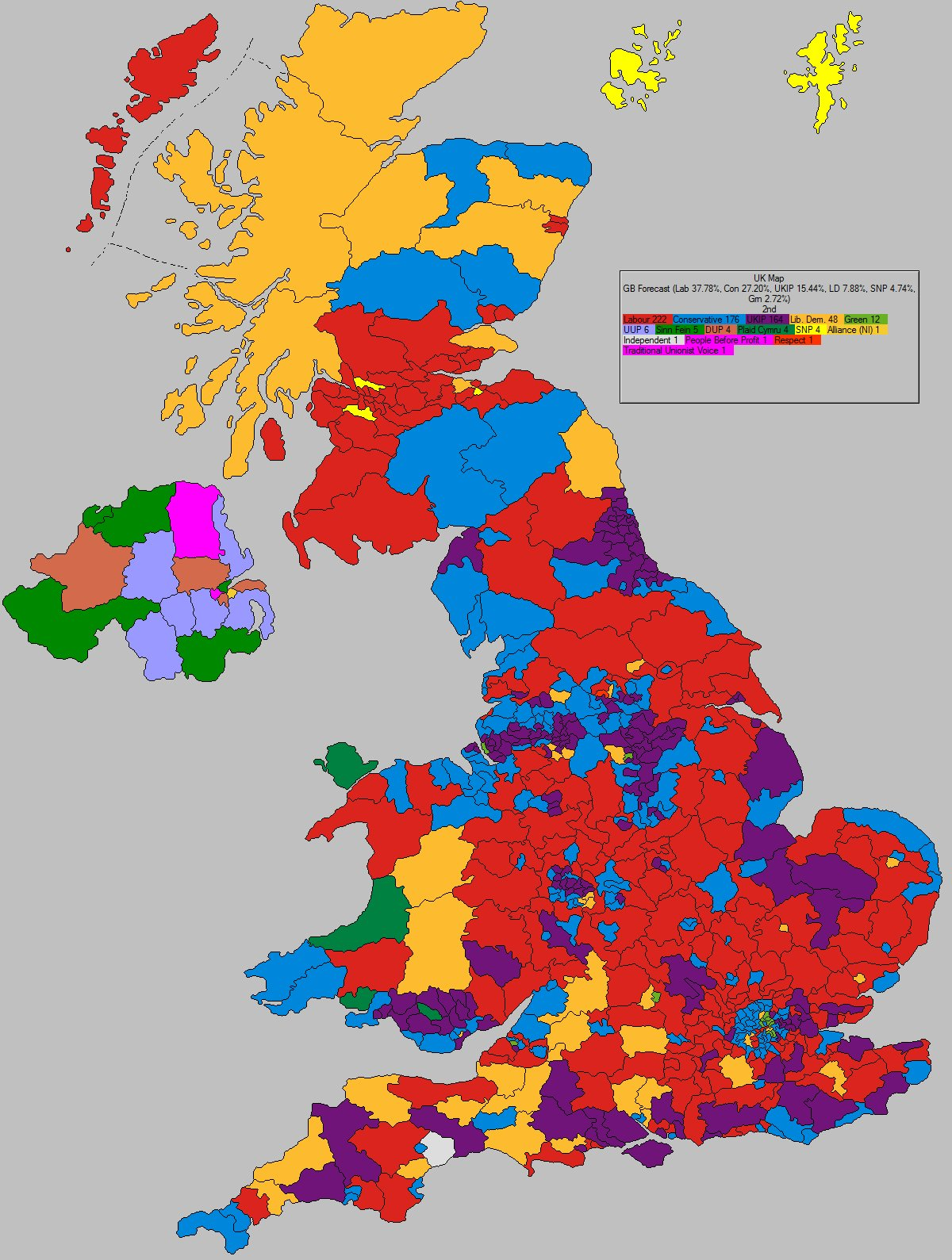 Map Of England 2015.Uk Elect Uk Election Forecast For Uk Second Place