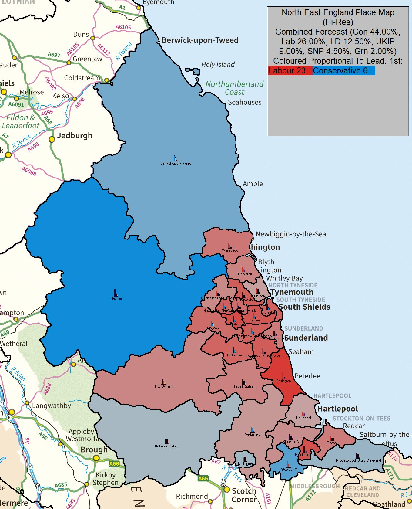 S E England Map.Uk Elect Uk General Election Forecast For North East England