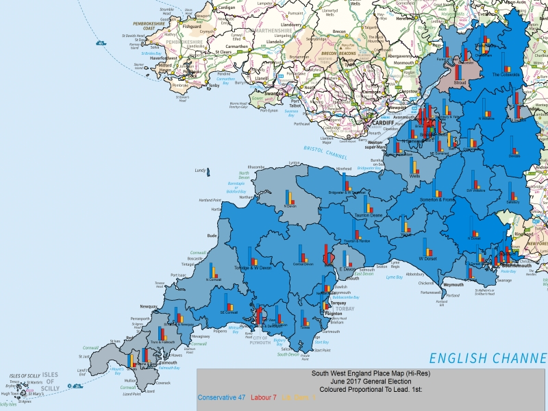 June 2017 General Election Result in SW England