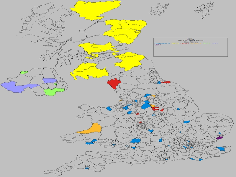 June 2017 General Election Result - UK Losses