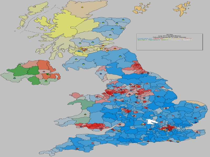 June 2017 General Election Result - United Kingdom