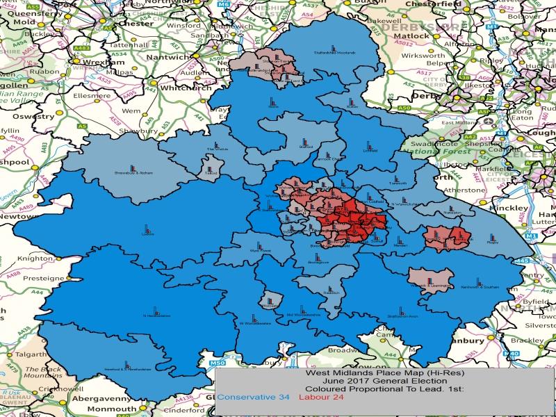 June 2017 General Election Result in West Midlands