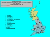 Forecast for GB, Coloured By Percentage Lead