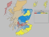 Forecast for Scotland (Constituencies, party in 2nd place)