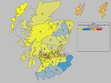 Forecast for Scotland (Constituencies, with pie charts)