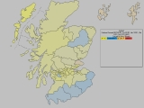 Forecast for Scotland (showing most significant 'swing to')