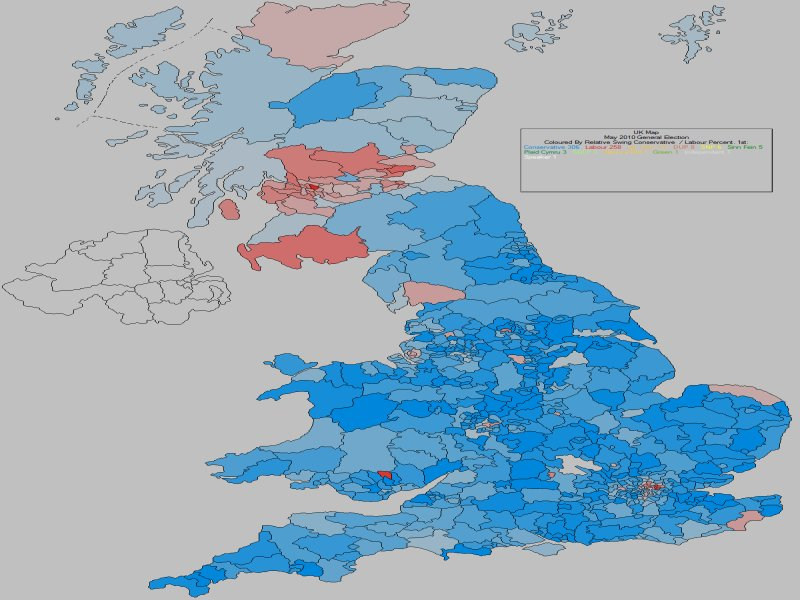 May 2010 General Election Result - Conservative Vs Labour Swing