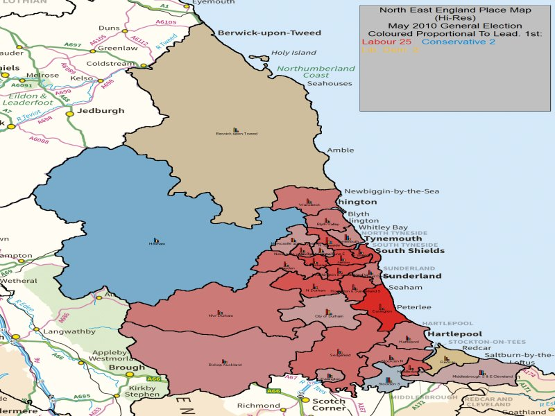 May 2010 General Election Result in NE England