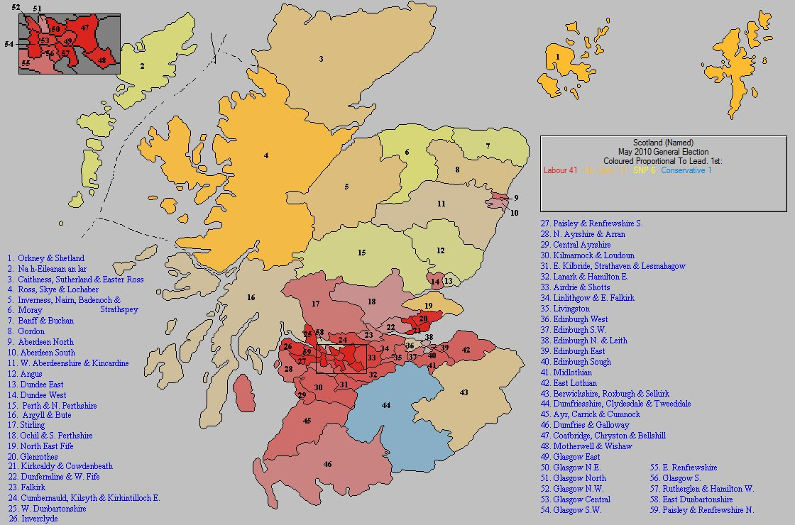 May 2010 General Election Result in Scotland