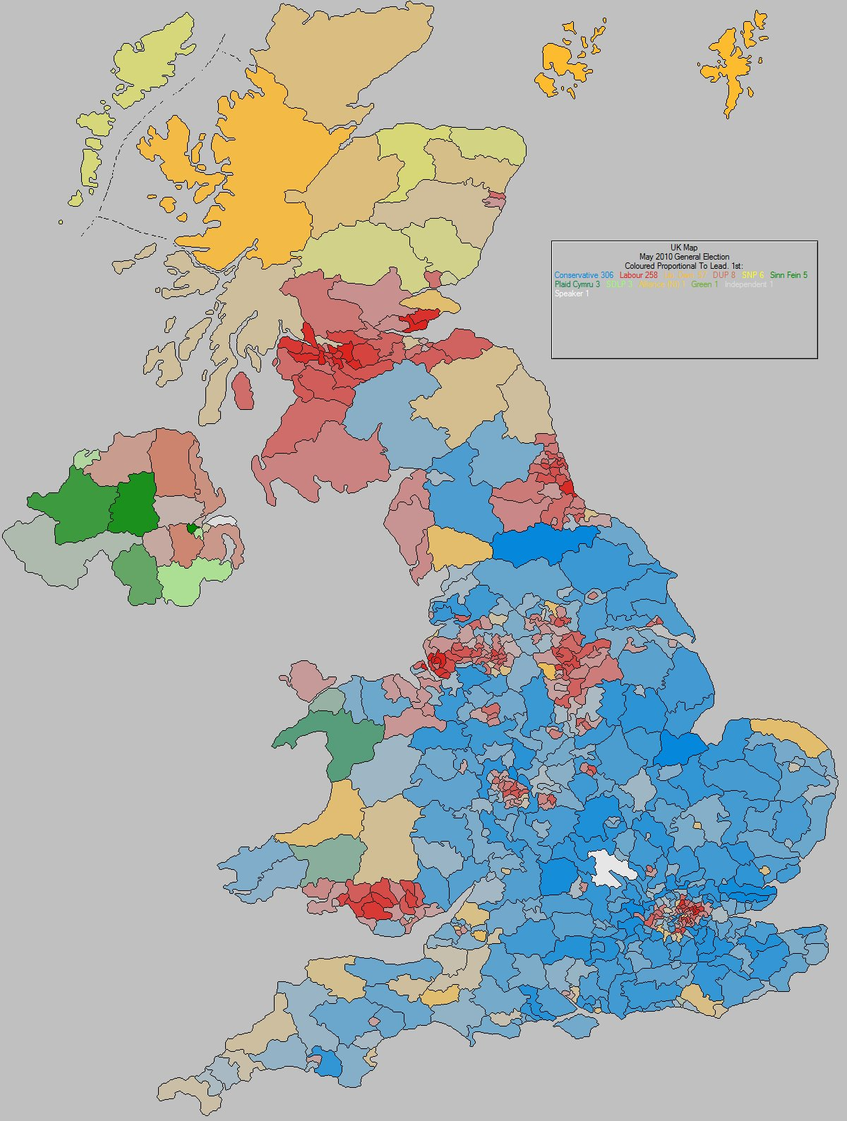 May 2010 General Election Result - United Kingdom
