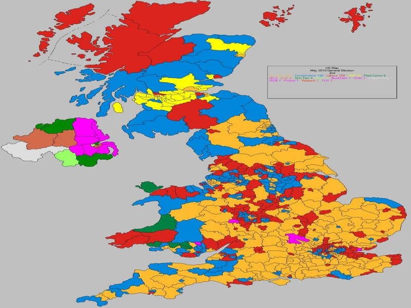 May 2010 General Election Result - UK (2nd Place)