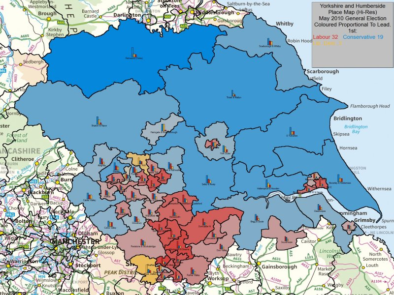 May 2010 General Election Result in Yorkshire and Humberside