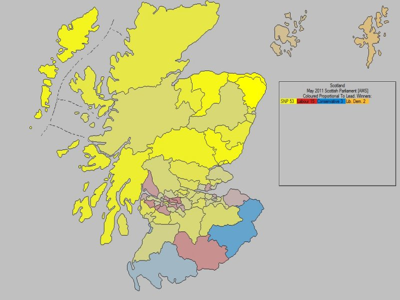 May 2011 Scottish Parliament Constituencies Result