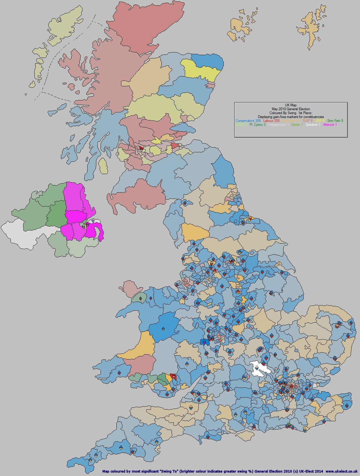 UK-Elect UK Election Forecasting - UK Political Maps