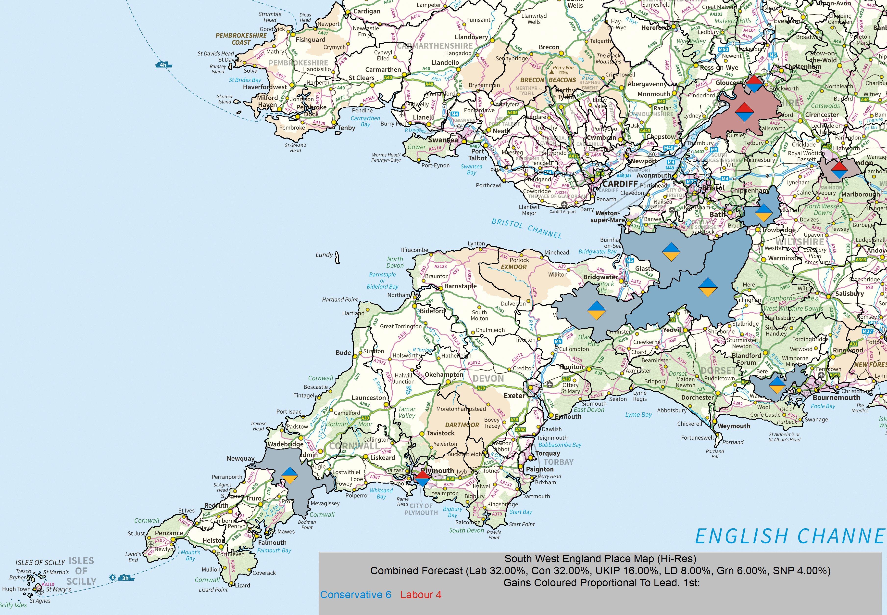 UKElect UK Election Forecasting UK Political Maps – Map Uk South